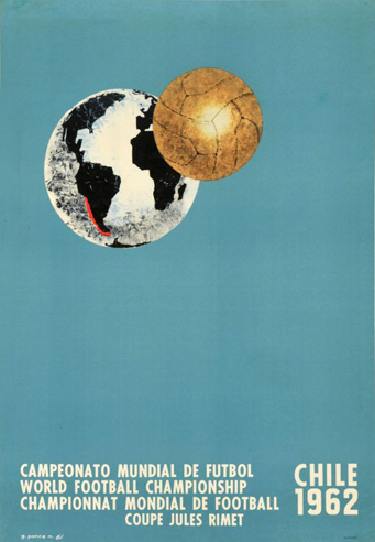 Chile 1962 Official FIFA World Cup Poster