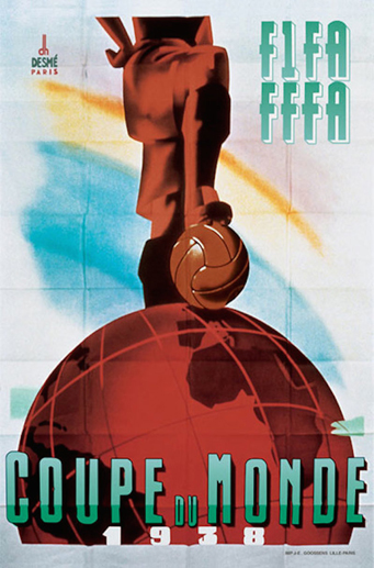 France 1938 Official FIFA World Cup Poster