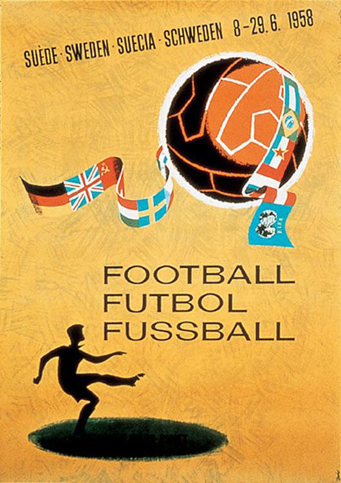 Sweden 1958 Official FIFA World Cup Poster