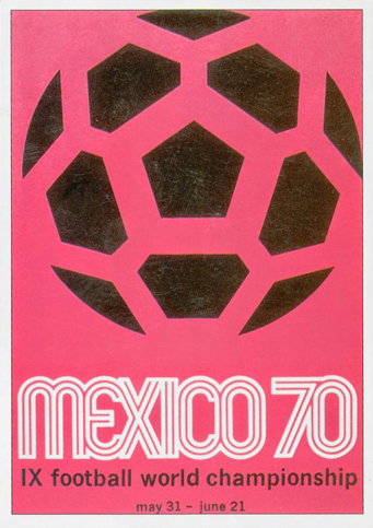 Mexico 1970 Official FIFA World Cup Poster