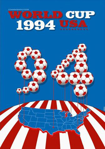 USA 1994 Official FIFA World Cup Poster
