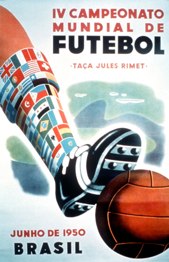 Brasil 1950 Official FIFA World Cup Poster