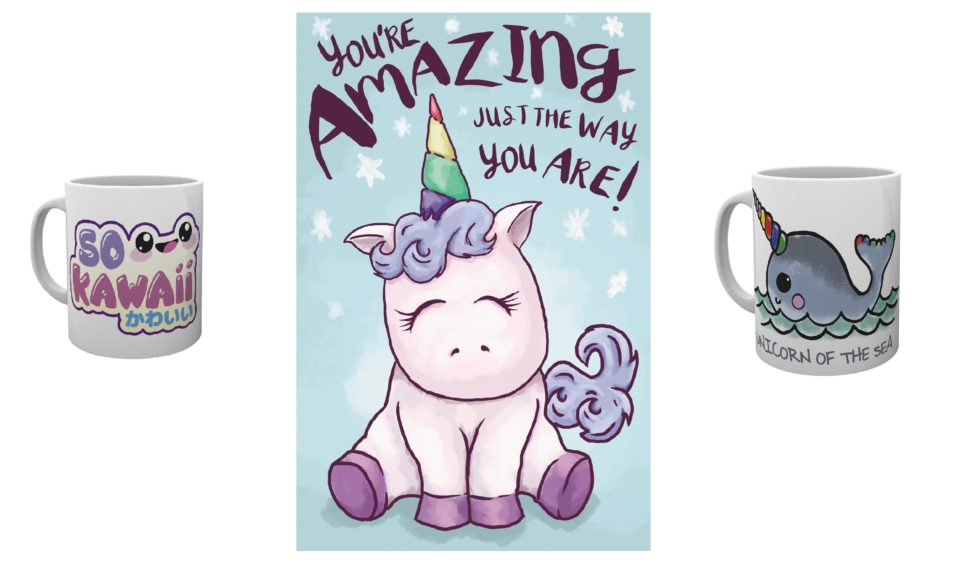 kawaii mugs and posters