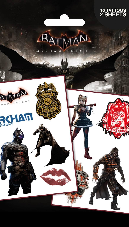 Batman Arkham Knight Characters Tattoo Pack