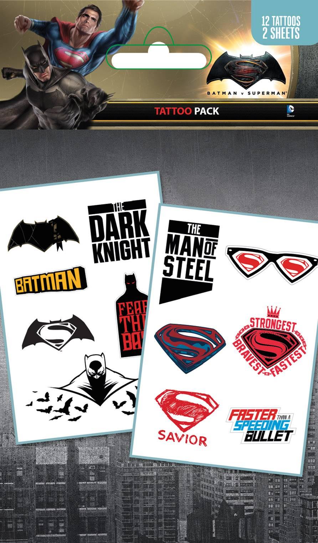 Batman Vs Superman Mix Tattoo Pack Review