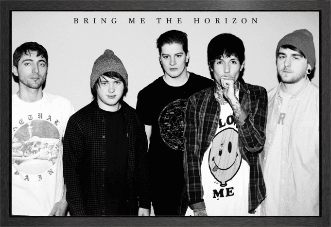 Bring Me The Horizon Black & White Framed Maxi Poster