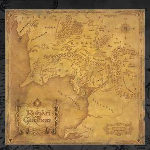 Lord Of The Rings Classic Map Giant Poster