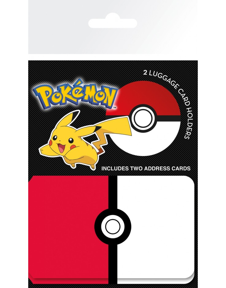 Pokemon Pokeball Luggage Card Holder