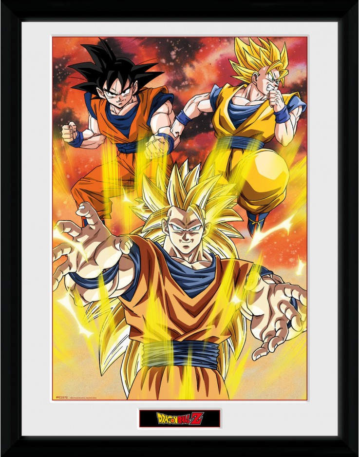 Dragon Ball Z 3 Gokus Framed Collector Print