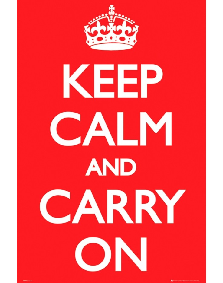 Keep Calm And Carry On Maxi Poster