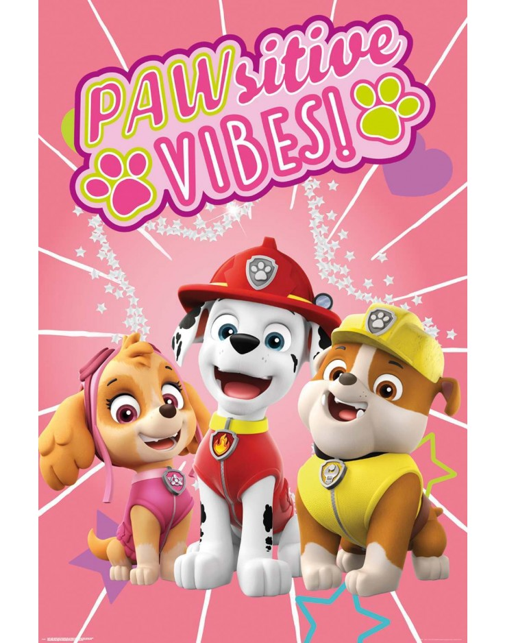 Paw Patrol Pawsitive Vibes Maxi Poster