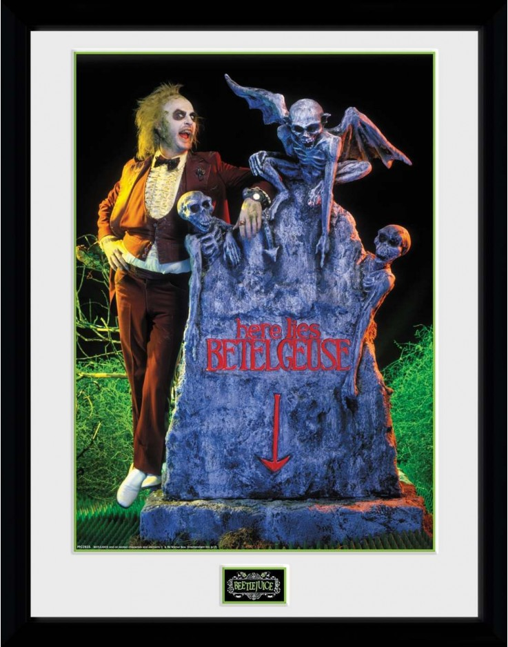 Beetlejuice Grave Framed Collector Print