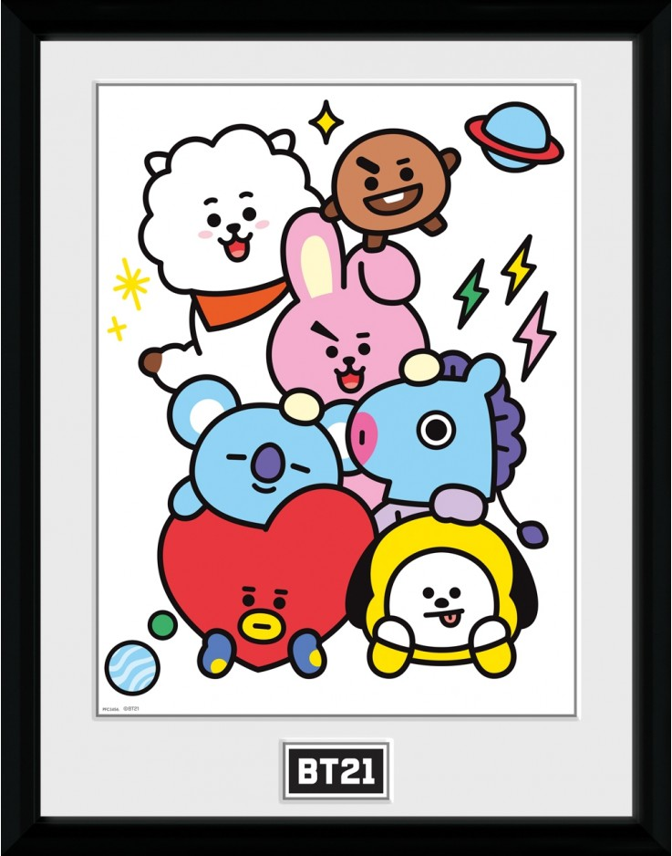BT21 Characters Stack Collector Print