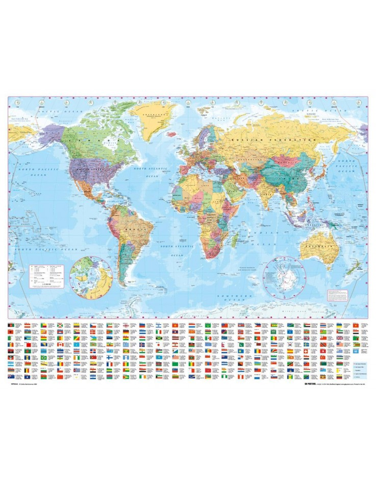 World Map Mini Poster