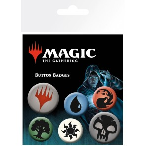 Magic the Gathering Mana Symbols Badge Pack