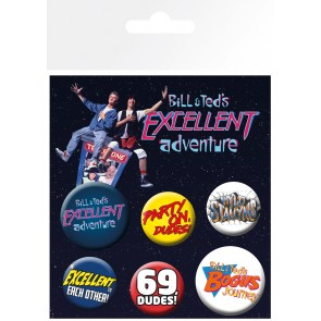 Bill and Ted Mix Badge Pack