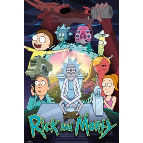 Rick and Morty Poster Wars 245 Official Merchandise
