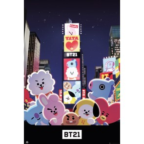 BT21 Times Square Maxi Poster