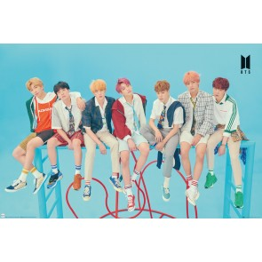 BTS Group Blue Maxi Poster