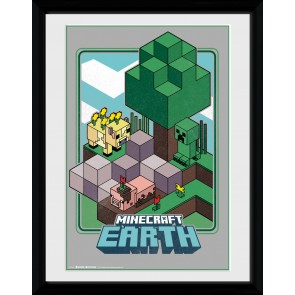 Minecraft Earth Vintage Collector Print