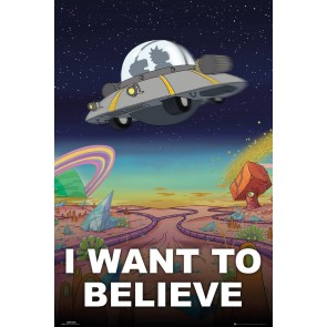Rick And Morty I Want To Believe Maxi Poster