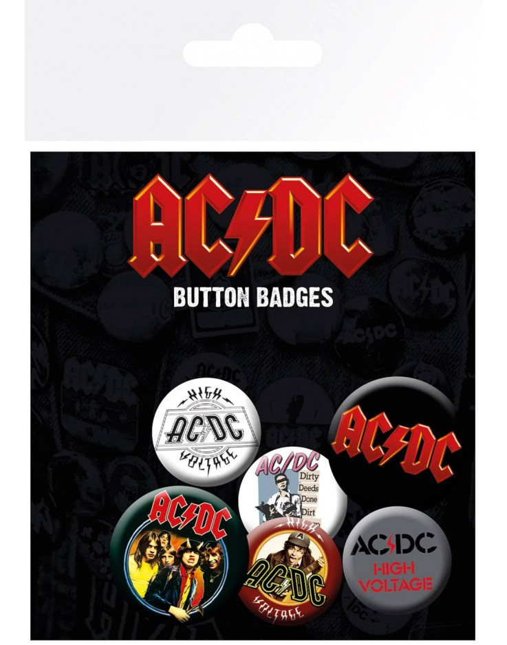 Set de Badges AC/DC Mix
