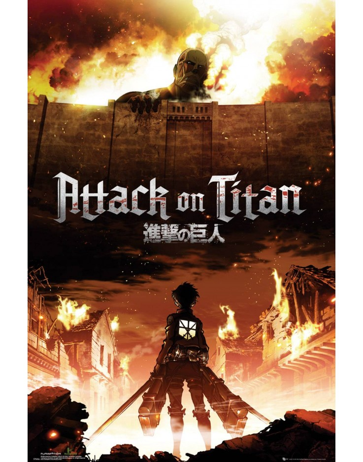 Affiche Maxi Attack on Titan Key Art