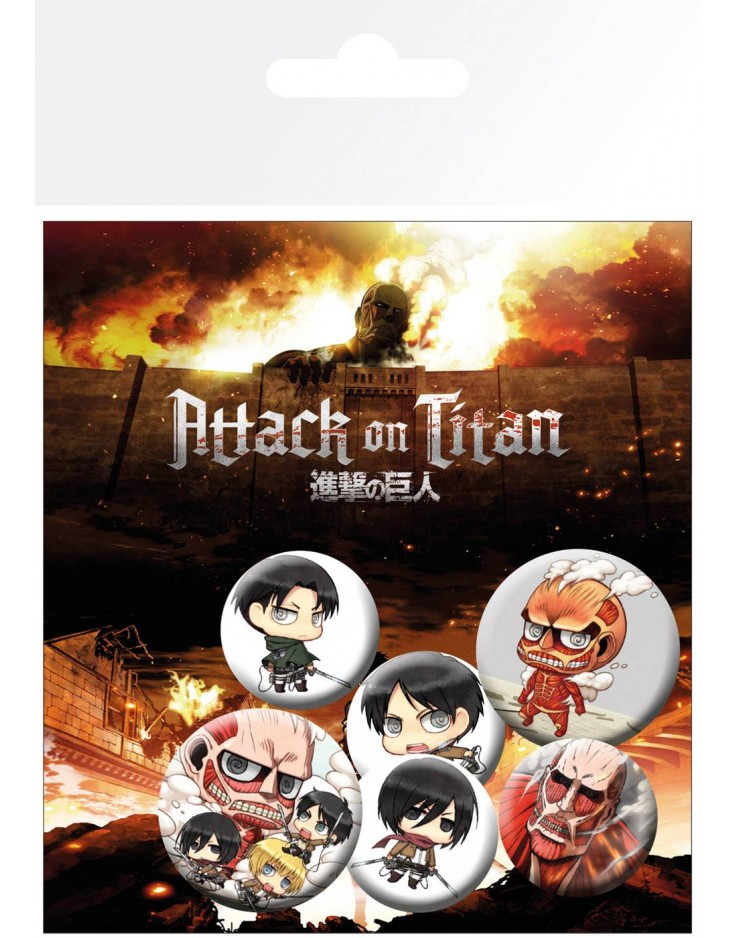Set de Badges Attack On Titan Mix
