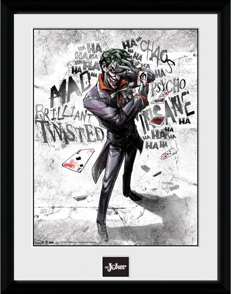 Photographie encadrée Batman Comic Joker Type 40 x 30 cm