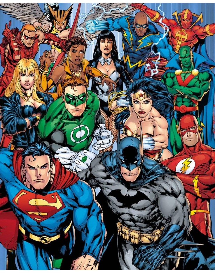 Mini Poster DC Comics Justice League Collage