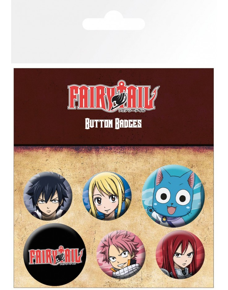 Fairy Tail Characters Badge Pack