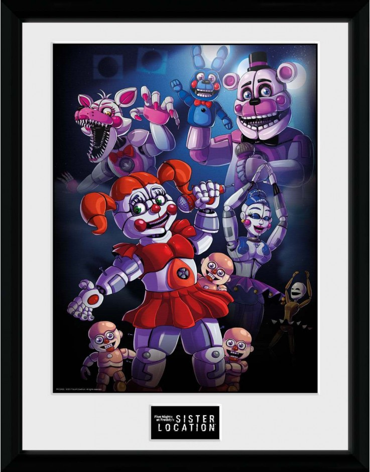 Photographie encadrée 30x40 cm Five Nights at Freddys Sister Location Groupe