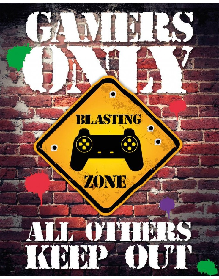 Mini Poster Gamers Only Controller Keep Out