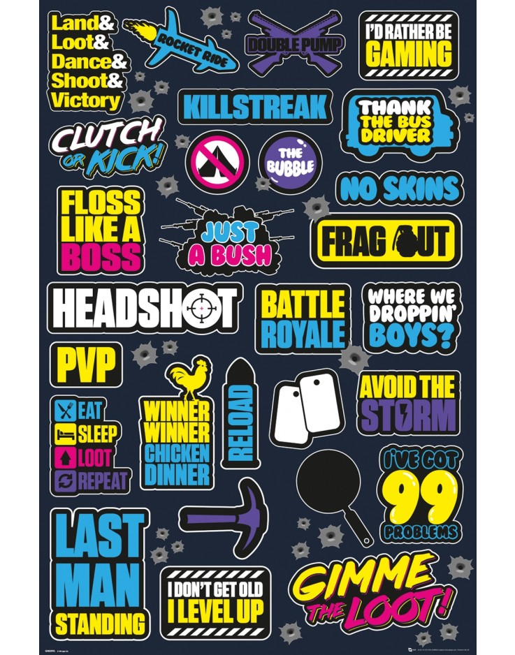 Battle Royale Infographic Maxi Poster