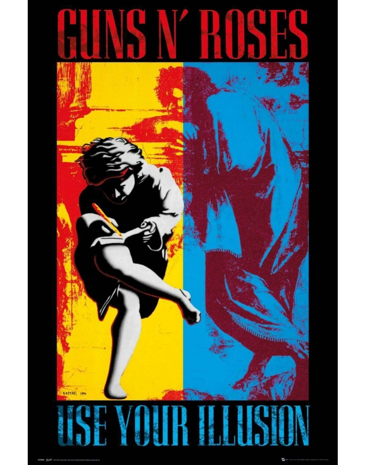 Affiche Maxi Guns N Roses Illusion