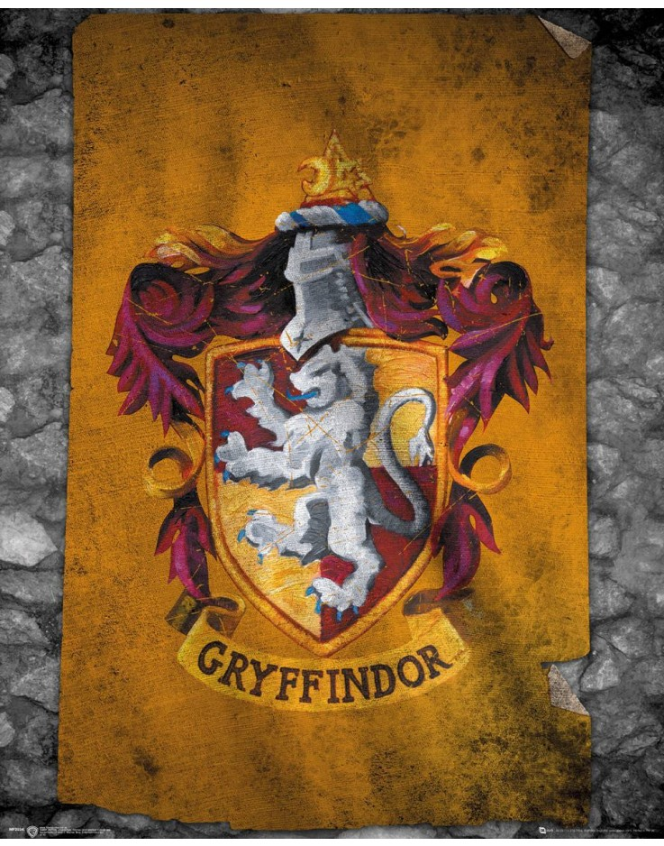 Affiche mini Harry Potter Gryffindor Flag