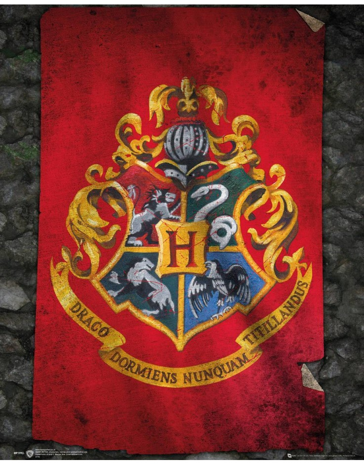 Mini Poster Harry Potter Hogwarts Flag