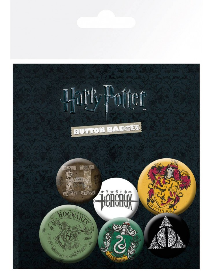 Set de Badges Harry Potter Mix