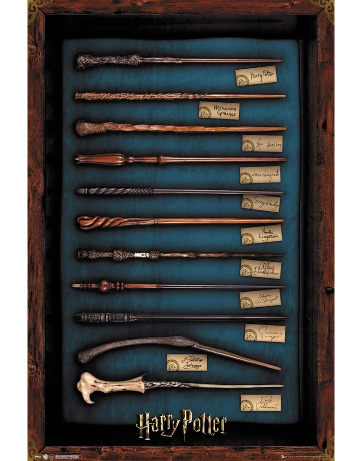 Affiche Maxi Harry Potter Wands
