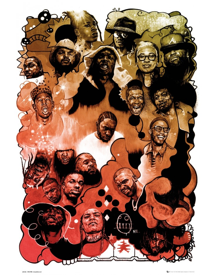Rap Gods Watercolour 3 Maxi Poster