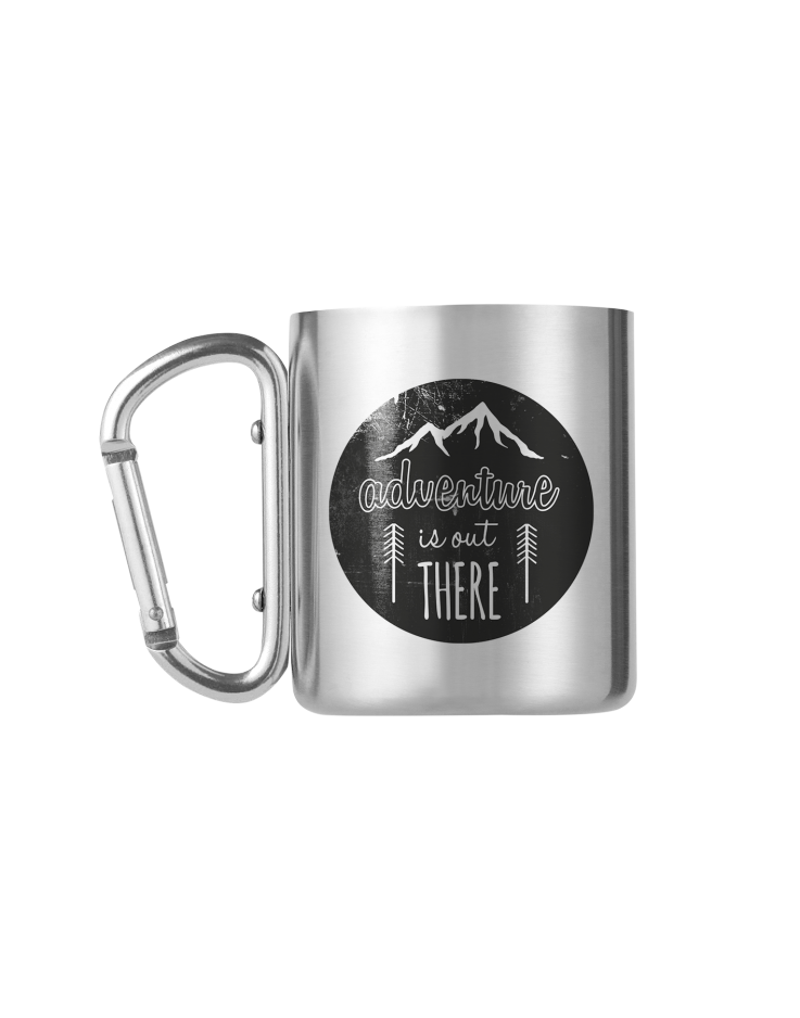 Adventure Is Out There Carabiner Mug
