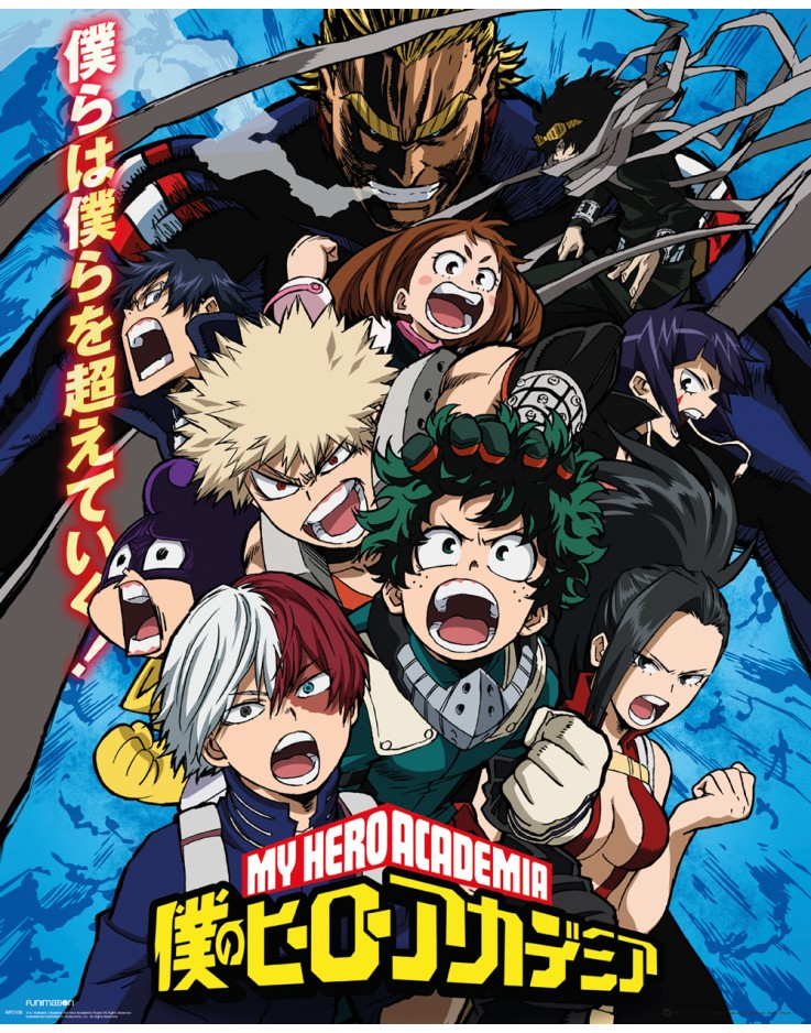 Affiche Mini My Hero Academia Saison 2