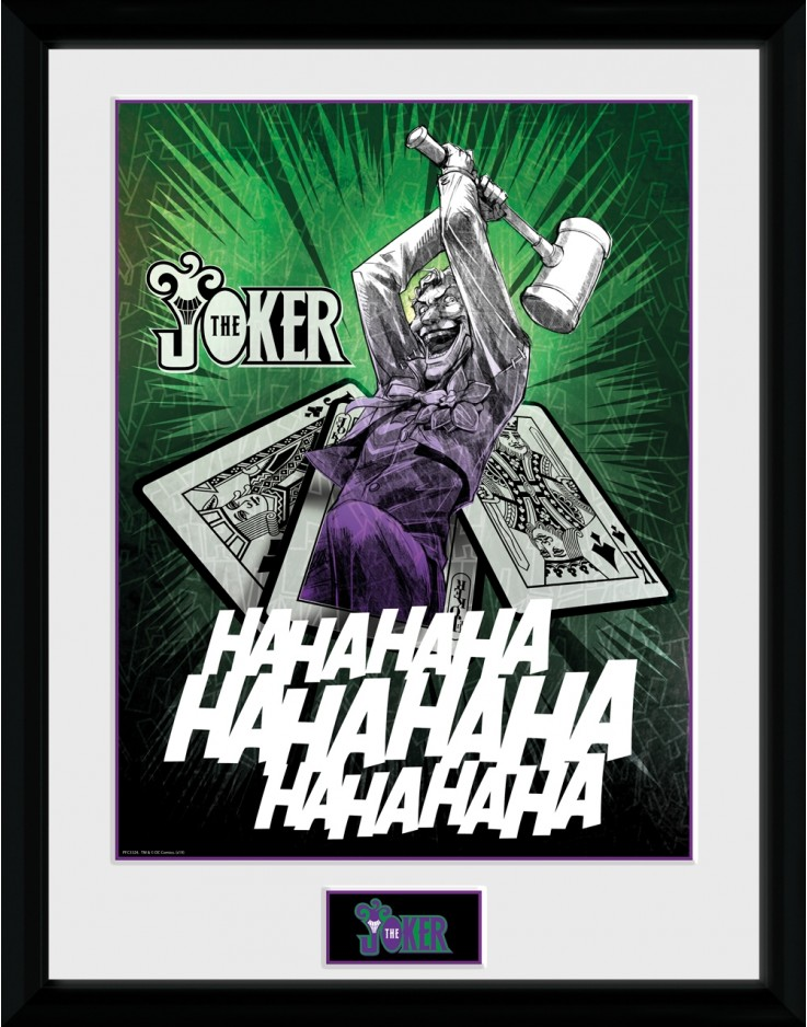 DC Comics Joker Cards Collector Print
