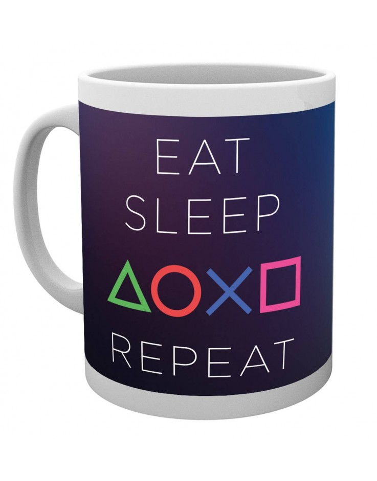 Playstation Eat Sleep Repeat Mug