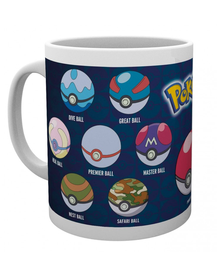 Tasse de ceramique Pokemon Ball Varieties