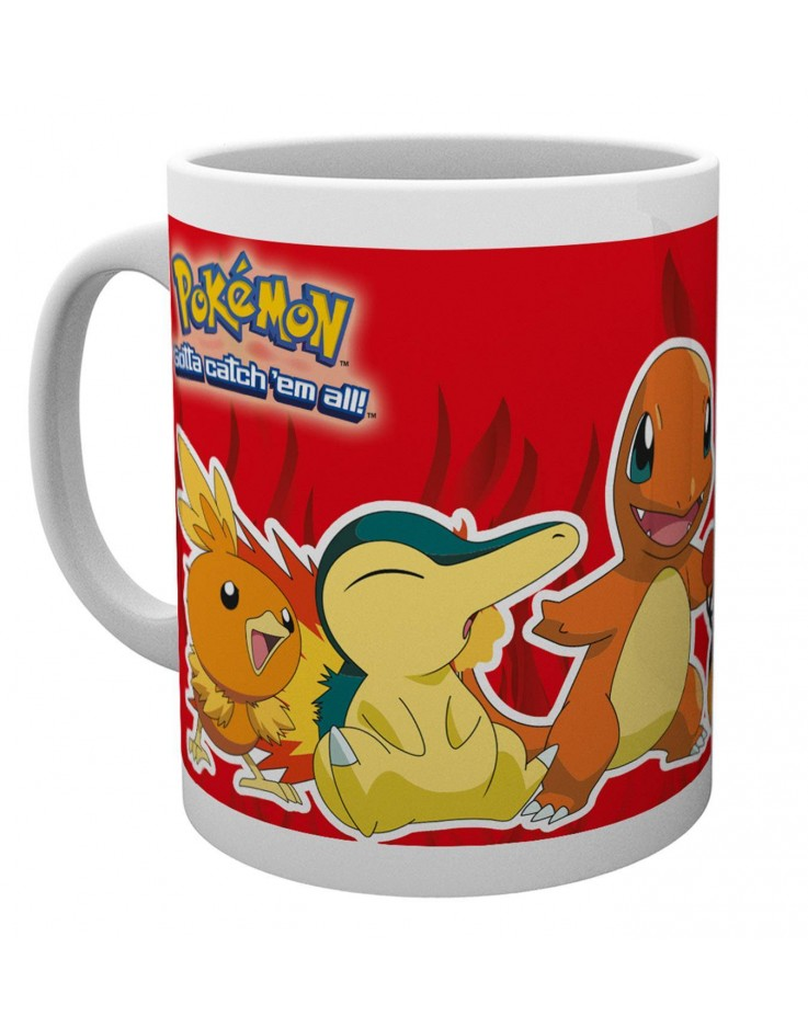 Tasse de ceramique Pokemon Fire Partners