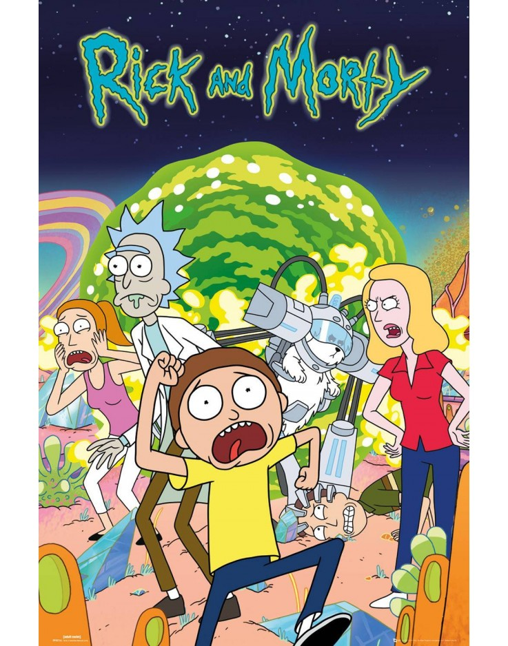 Affiche Maxi Rick and Morty Groupe