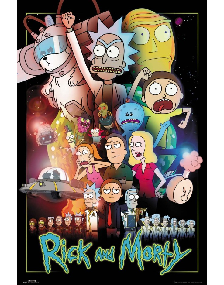 Affiche Maxi Rick and Morty Guerres