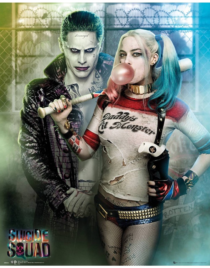 Affiche mini Suicide Squad Joker and Harley Quinn