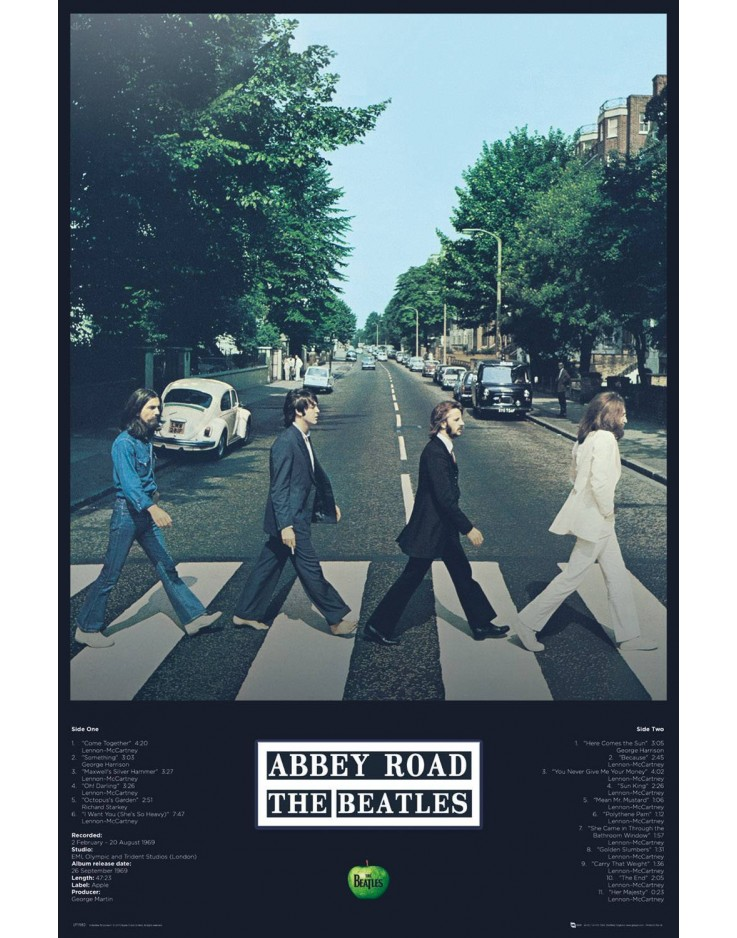 Maxi Poster The Beatles Abbey Road Tracks